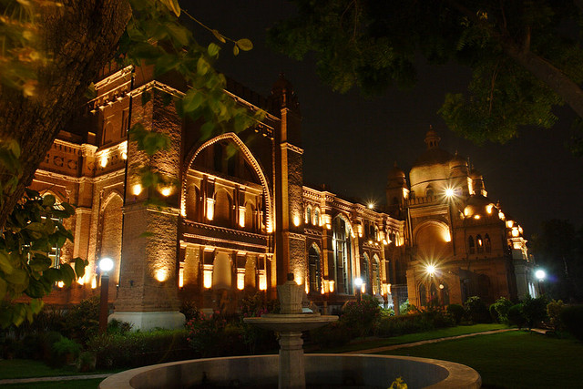 lahore museum at night