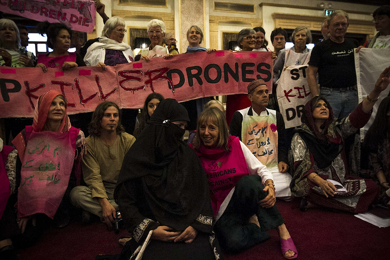 CodePink protesting against drone attacks