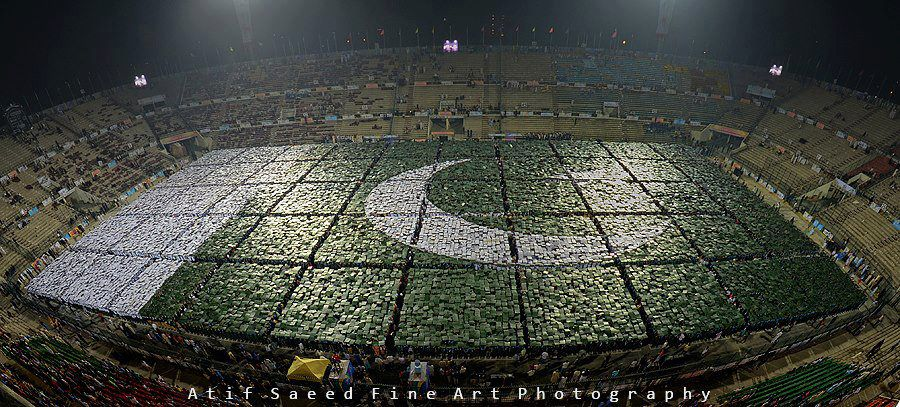 human flag pakistan