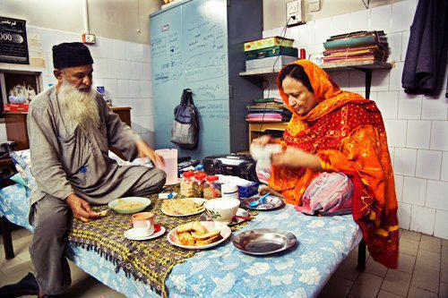 edhi with his wife