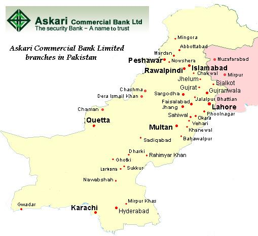 askari bank pakistan Askari bank ltd (urdu: عسکری بینک ‬ ‎) (formerly askari commercial bank) is a commercial and retail bank in pakistan it was founded on october 9, 1991, as a public limited company.