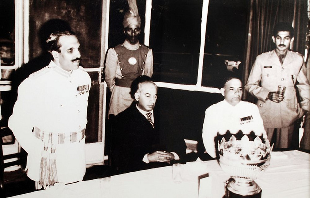 Gen Zia with Bhutto