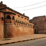 outer wall of lahore fort